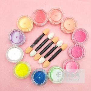 Wholesale 12 Colors Cosmetic Eyeshadow Nails Beauty Colorful Neon Nail Pigment Powder Box Set from china suppliers