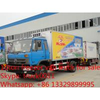 Wholesale 4*4 off road all wheels drive cold room truck, dongfeng 4 wheels driving refrigerated truck for pork and beet for sale from china suppliers
