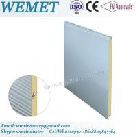 Wholesale 500-1000MM width PU/PIR fire proof insulated wall panel for steel structure building from china suppliers