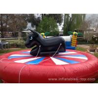 Wholesale Amusement Park Inflatable Sports Games Giant Mechanical Rodeo Bull With Inflatable Mattress from china suppliers