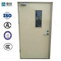 Wholesale 55/52 Mm Thick Paint Fire Resistant Wooden Doors With Glass Insert CCC Standard from china suppliers