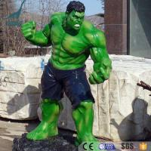 China Customized theme park fiberglass figure sculpture Hulk statues on sale