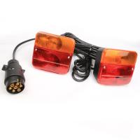 Wholesale Bright Color Waterproof Trailer Tail Lights With Round Plug OEM Easy Installation from china suppliers