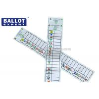Quality Full Color Printing Voting Ballot Paper Size Customized With Election Serial Number for sale