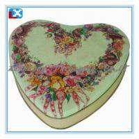 Wholesale heart-shaped chololate tin box from china suppliers