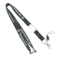 Wholesale Customized Black Cell Phone Neck Lanyard , Smartphone Neck Strap With Company Logo from china suppliers