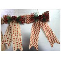 Wholesale Ribbon Bow Present Wrapping Accessories Merry Christmas Tree Decoration Classical Linen from china suppliers