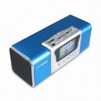 Wholesale Mini Portable Speaker with Aluminum-alloy TF Card and FM Radio, 150 to 18,000Hz Frequency Response from china suppliers