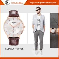 Wholesale Trendy Watch for Business Man Sport Wristwatches Men Stainless Steel Genuine Leather Watch from china suppliers