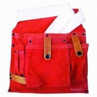 Wholesale Red cow split leather tool bag from china suppliers
