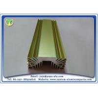 Wholesale Golden Anodized Extruded Aluminum Profile Radiators / Heat Sink 6063- T5 from china suppliers
