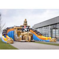 Wholesale Mega Glijbaan Amazing giant inflatable slide , Inflatable Pirate Ship Double Slide from china suppliers