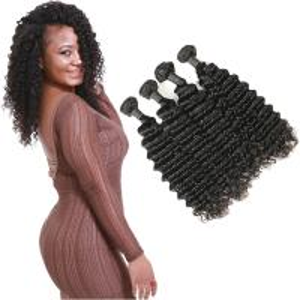 Wholesale Long Natural Deep Wave Hair Bundles / Raw Deep Wave Human Hair Extensions from china suppliers