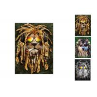 Wholesale Hotel Decoration Lenticular Flip Picture / 0.6mm PET 3 In 1 3D Animals Photos from china suppliers