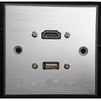 Wholesale HDMI & USB Aluminum Alloy Wall Plate , Electrical Wall Socket For Hotel / Home from china suppliers