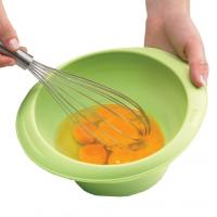 cheap silicone egg whisk ,silicone egg beater with handle