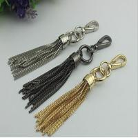 Hot sale custom gold nickel gunmetal color metal tassels cap with spring hooks for sale