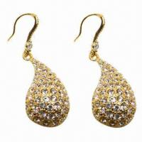 Wholesale Fashionable Stud Earrings, Golden Plating from china suppliers