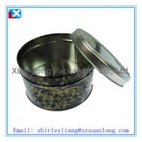 Wholesale plain promotional small round cookie tin from china suppliers