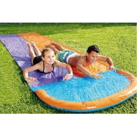 Wholesale Fancy Outdoor Leisure Equipment PVC Customized Colored Inflatable Double Splash Water Slide 60~120cm Deflated from china suppliers