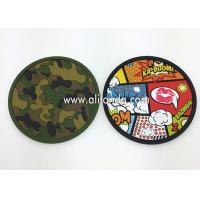 China Custom anti-slip soft pvc round shape 2d with any image design coaster on sale