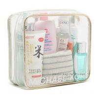 Wholesale Eco Friendly Plastic Makeup Bag , Clear PVC Makeup Organizer Bag OEM Accepted from china suppliers