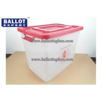 Wholesale Recyclable 65 Liter Anti - tampering Clear Plastic Storage Bins PP Material from china suppliers
