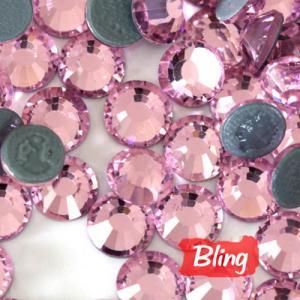 China SS20 Hot-Fix Rhinestones Light Rose; Iron-On Diamond Beads on sale