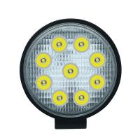 China Cheap Price 27W waterproof round shape working lights vehicle car led work light for sale