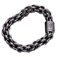 Wholesale Sterling Silver Chunky Rolo Chain Link Men Bracelet (058602) from china suppliers