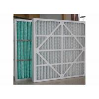 China Charcoal Industrial Air Filter Panels G4 -F9 Non Woven Medium Blue White Color on sale