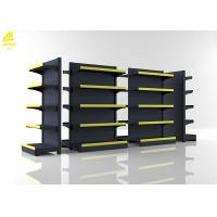 Wholesale Middle Back Panel Supermarket Steel Racks Matt Gray Colour 1.4M High Double Side from china suppliers