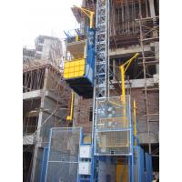 Blue Twin Cage Construction Material Hoists for Building SC200 for sale