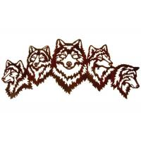 Wholesale Vivid Five Wolves Contemporary Metal Wall Sculptures Popular Design from china suppliers