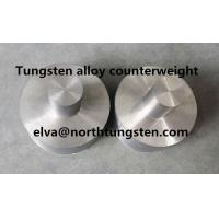 Buy cheap tungsten alloy can pot cap blank nickel iron 92%W counterweight groove hole Medical radiation shielding cap material from wholesalers