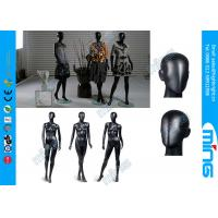 Quality Glossy Black Full Standing Female Body Mannequin / Fiberglass Female Body Display for sale