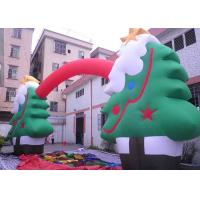 Wholesale Oxford Cloth Customized Advertising Inflatables Christmas Tree / Arch For Festival from china suppliers