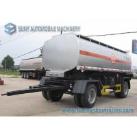 Wholesale 15000 L 2 Axles Oil Tank Trailer , Full stainless steel tanker trailers For Water / Chemical / LPG from china suppliers