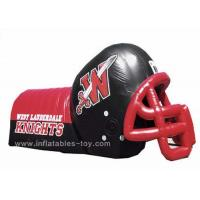 Wholesale Adults Inflatable Sports Games Football Team Inflatable Football Helmet Tunnel from china suppliers