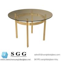 Wholesale Excellence quality round glass table tops from china suppliers