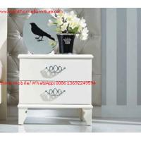 Wholesale Ivory Classic Bed side table with wooden drawers for Nightstand design used by Hotel and Villa Furniture from china suppliers