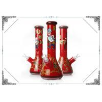 China 7MM Thick Red Glass Beaker Bongs Rick And Morty Bong Smoiking Hookah Water Pipes on sale