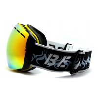Quality Popular Yellow TPU Frameless Ski Goggles Ski Goggles That Fit Over Glasses for sale