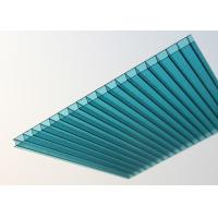 Wholesale Lake Blue Polycarbonate Sheet , Embossed Hollow Polycarbonate Roof Panel from china suppliers