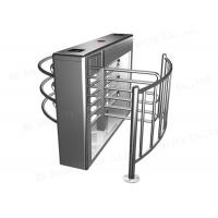 Wholesale Half Height Single Turnstyle Pedestrian Barrier Gate Remote Control 304 Stainless Steel from china suppliers