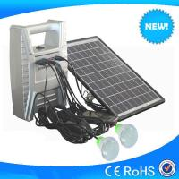 Small 8w solar system with 2pcs LED light, cheap sale mini home lighting solar system