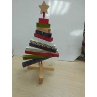 Wholesale Mini Christmas Wooden Tree ,  Artistic Wood Crafts Colorized 180 X 250 X 20mm from china suppliers