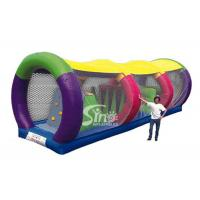 Wholesale Outdoor kids race tunnel inflatable obstacle course with sun cover on top from china suppliers