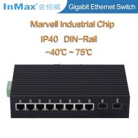 Buy cheap 10 Ports Full gigabit network Switch with 2 SFP slots 10 /100/1000Mbps IP40 protection from wholesalers