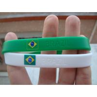 Country Flag Friendship silicone Bracelet Wristband for Football Team Soccer Fans for sale
